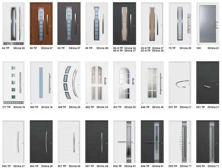 Drzwi zewnętrzne przeszklone aluminiowe